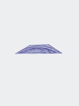 Gevallen regenboog, blauwe balpen op papier, 29,7cm x 21cm, 2010