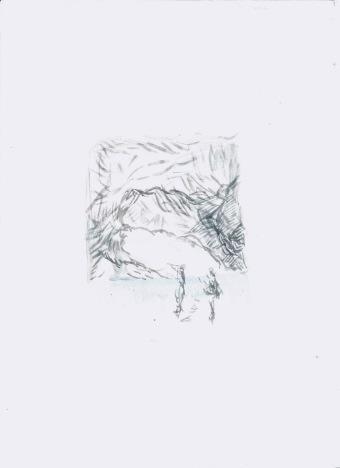 Zonder titel, waterverf op papier, 29,7cm x 21cm, 2009