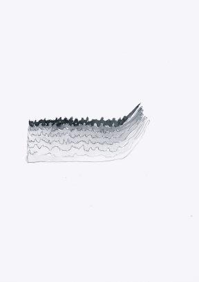 Studie voor een foto, zwarte balpen en waterverf op papier, 21cm x 29,7cm, 2010