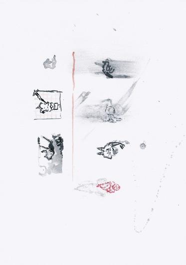 Zonder titel, waterverf op papier, 29,7cm x 21cm, 2010