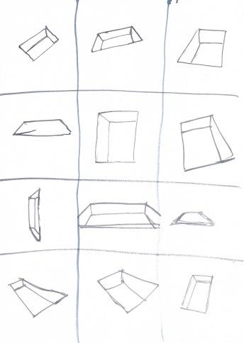 Studie voor zwembaden, waterverf op papier, 29,7cm x 21cm, 2010