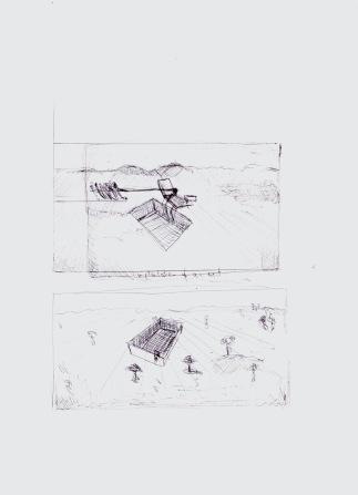 Implantation of an event, zwarte balpen op papier, 29,7cm x 21cm, 2010