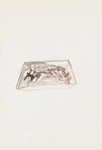 Onrustig zwembad, waterverf op papier, 29,7cm x 21cm, 2010