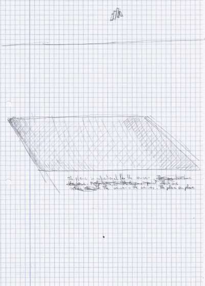 Zonder titel, zwarte balpen op papier, 29,7cm x 21cm, 2010