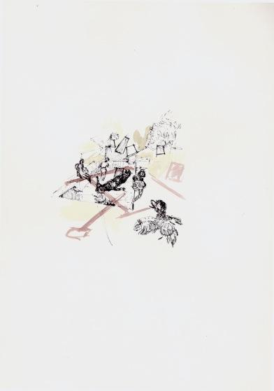 Zonder titel, zwarte inkt en waterverf op papier, 29,7cm x 21cm, 2010