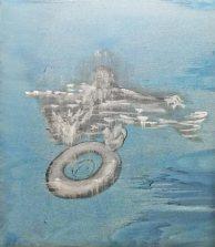 Infinity Edge Pool, acrylics and oil on canvas, 200 x 170 cm, 2013