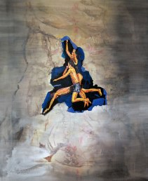 Jumpers, Acrylics and Oil paint on canvas, 75cm x 60cm, 2012