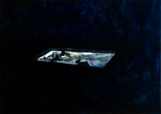 Pool 1, Oil paint on canvas, 50cm x 70cm, 2008