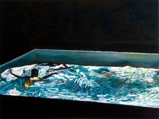 Pool 4, Oil on canvas, 70cm x 80cm, 2008