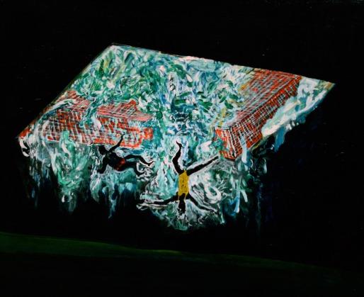 Pool 5, Oil paint on canvas, 50cm x 60cm, 2008