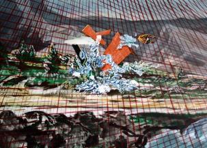 Pool 9, acrylics and oil on Canvas, 50cm x 70cm, 2011