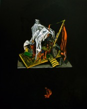 Space camp, Oil on canvas, 99,5cm x 79cm, 2009
