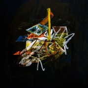 Space camp x, Oil on canvas, 99,5cm x 79cm, 2009