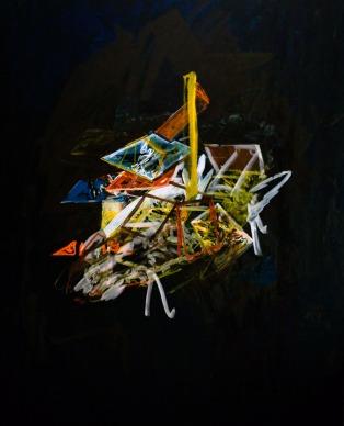 Space camp x, Oil on canvas, 99,5cm x 79cm, 2009