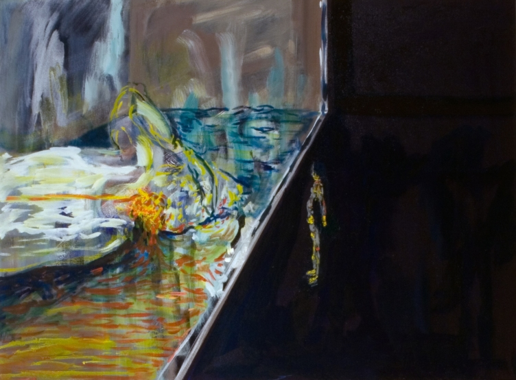 I told you so: the world is flat, 40cm x 60cm, Oil on Canvas, 2008