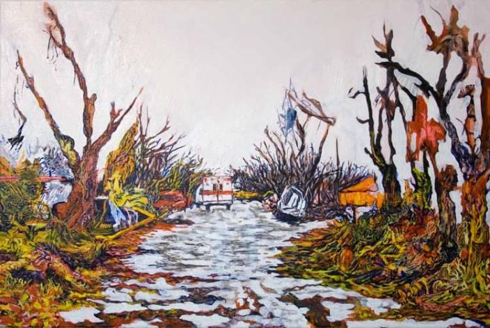 Tornado, 40cm x 60cm, Oil paint on canvas, 2008