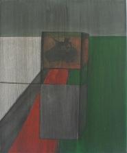 Deconstruction of a tank till painting, 60cm x 50cm, Acrylics on canvas, 2005