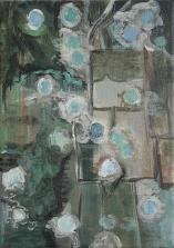 Ex Targets, 18cm x 13cm, Acrylics on canvas, 2006