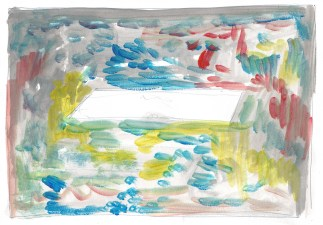 Studie voor Zwembad, acrylverf op papier, 21cm x 29,7cm, 2011