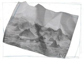Bergen, collage, 21cm x 29,7cm, 2011