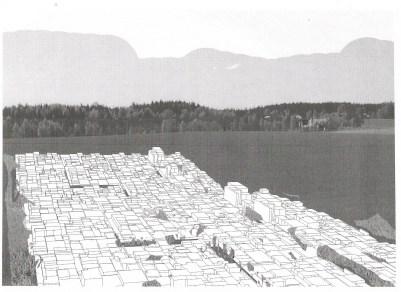 Studie voor een installatie te Hameënkyrö, inkt op papier, 2011