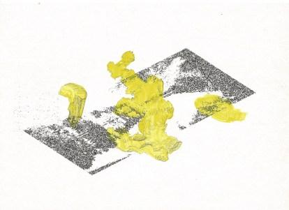 Studie voor zwembad, inkt, acrylverf en grafiet op papier, 2011
