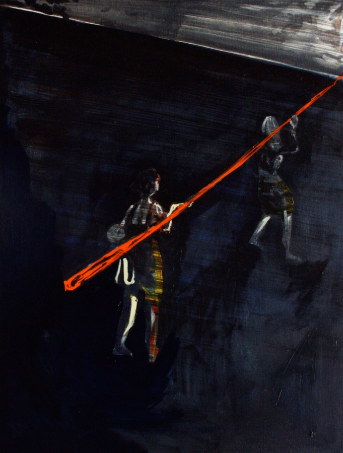 A Sudden Twist, Oil on canvas, 60cm x 45cm, 2009