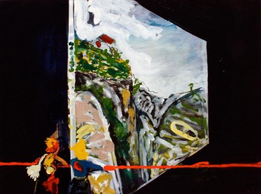 A Sudden Twist, Oil on canvas, 45cm x 60cm, 2009