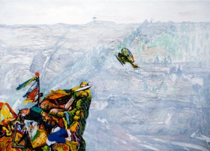 Choppers in La Mancha (questions to Robert Smithson), 50cm x 69cm, 2009