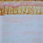 Bosweg, 67cm x 42cm, olieverf op hout, 2017