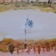 De Oversteek, 67cm x 42cm, olieverf op hout, 2018