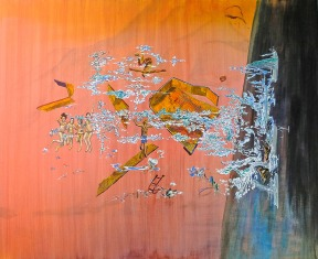 Holiday Line Breakdown, 125cm x 155cm, Acrylic and Oil paint on canvas, 2013