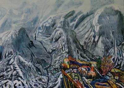 Information, Oil on canvas, 45cm x 60cm, 2010