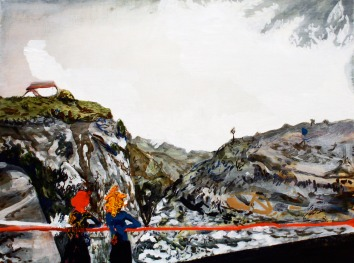 Panorama View Spot, Oil on canvas, 45cm x 60cm, 2009