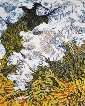 Map nr.15 Black County, 24cm x 30cm, Oil on cardboard, 2007