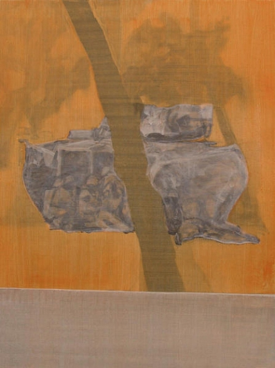 Study for a tank, 80cm x 60cm, Acrylics on canvas, 2005