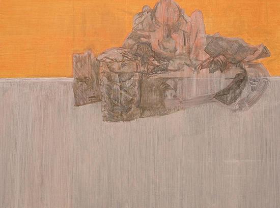 Study for a tank 2, 60cm x 80cm, Acrylics on canvas, 2005