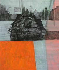 Study for the will to score 2, 60cm x 50cm, Acrylics on canvas, 2005