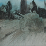 The Will To Score 2, tank 1, 40cm x 50cm, Acrylics on canvas, 2006