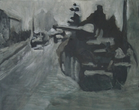 The Will To Score 2, tank 11, 40cm x 50cm, Acrylics on canvas, 2006