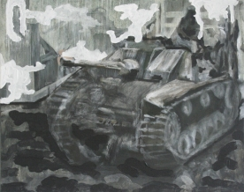 The Will To Score 2, tank 12, 40cm x 50cm, Acrylics on canvas, 2006