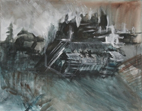 The Will To Score 2, tank 3, 40cm x 50cm, Acrylics on canvas, 2006