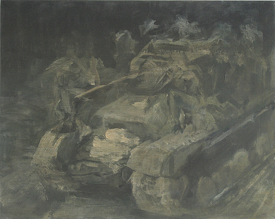 The Will To Score 2, tank 4, 40cm x 50cm, Acrylics on canvas, 2006