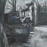 The Will To Score 2, tank 5, 40cm x 50cm, Acrylics on canvas, 2006