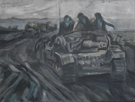 The Will To Score 2, tank 8, 40cm x 50cm, Acrylics on canvas, 2006