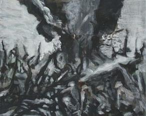 Thunderdome 2, 24cm x 30cm, Acrylics on canvas, 2006
