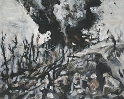 Thunderdome 3, 24cm x 30cm, Acrylics on canvas, 2006
