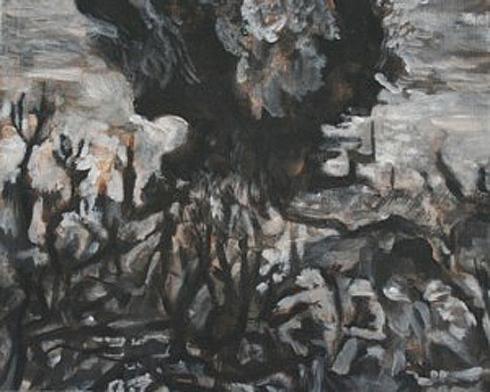 Thunderdome 4, 24cm x 30cm, Acrylics on canvas, 2006