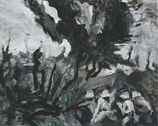 Thunderdome 5, 24cm x 30cm, Acrylics on canvas, 2006