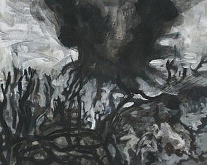 Thunderdome 6, 24cm x 30cm, Acrylics on canvas, 2006